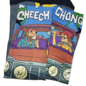 Cheech & Chong Over the Calf Socks Sz N/A